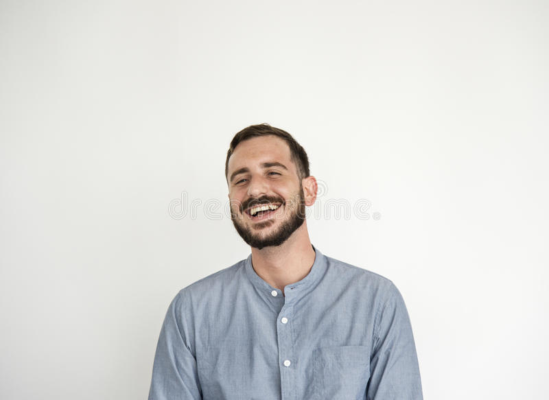 Man Smiling Happiness Carefree Emotional Expression Concept royalty free stock photo