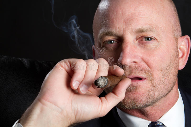 Man Smoking Stock Photography