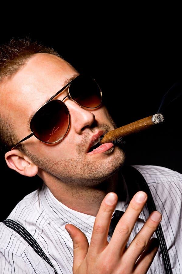 Man Smoking Cigar Stock Photos