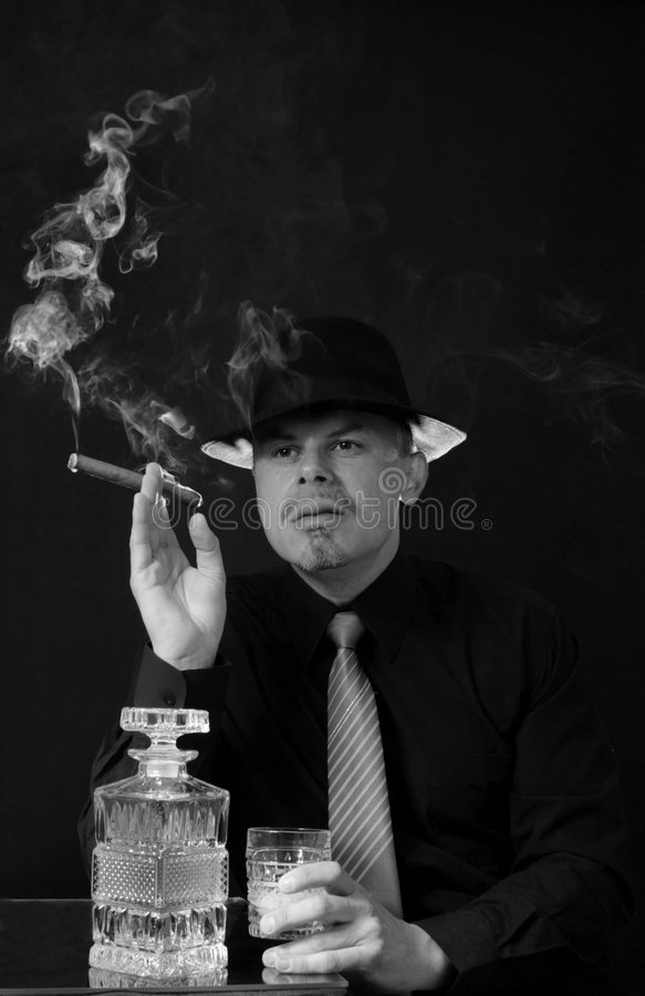 Download Man smoking cigar stock image. Image of beauty, person - 5400269