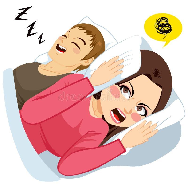 Man Snoring Noise royalty free illustration