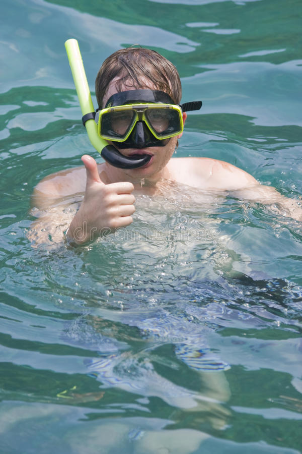 Download Man snorkeling stock photo. Image of equipment, sports - 14901724