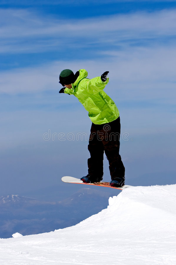 Download Man Snowboarding On Slopes Of Pradollano Ski Resort In Spain Stock Image - Image: 680953