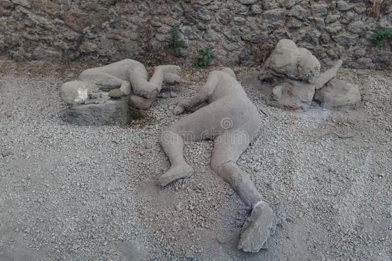 Man som är död i pompeii royaltyfria bilder