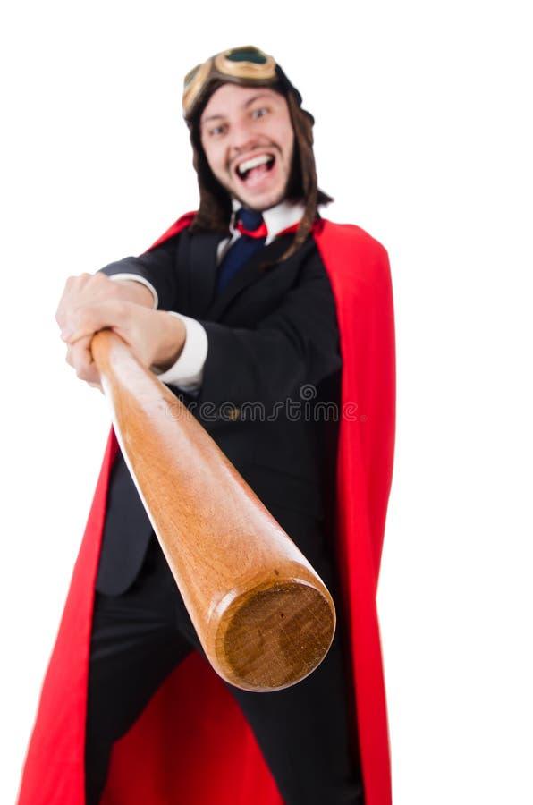 Man som bär röda kläder arkivfoton