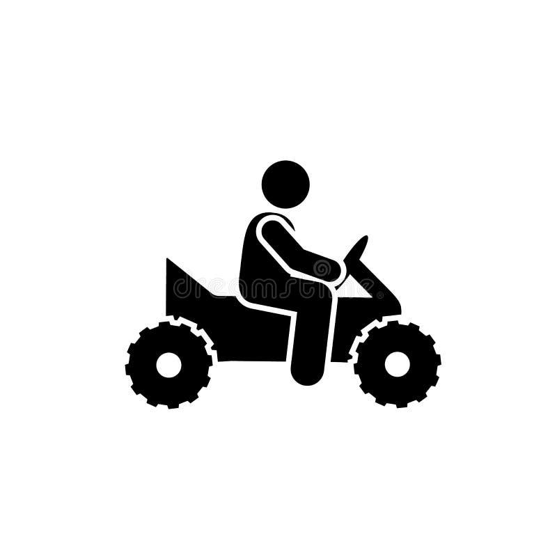 Man som cyklar motorcykelmedelsymbolen Beståndsdel av pictogramaffärsföretagillustrationen royaltyfri illustrationer