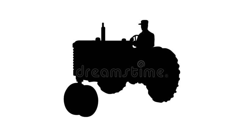 Man som kör en traktorillustration stock illustrationer
