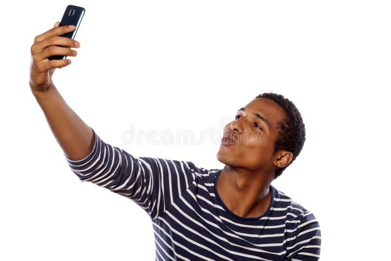 Man som tar selfie royaltyfri bild