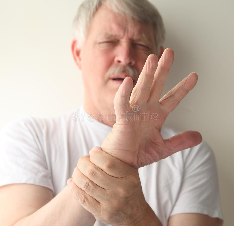 Download Man with a sore hand stock image. Image of pain, fingers - 25203823