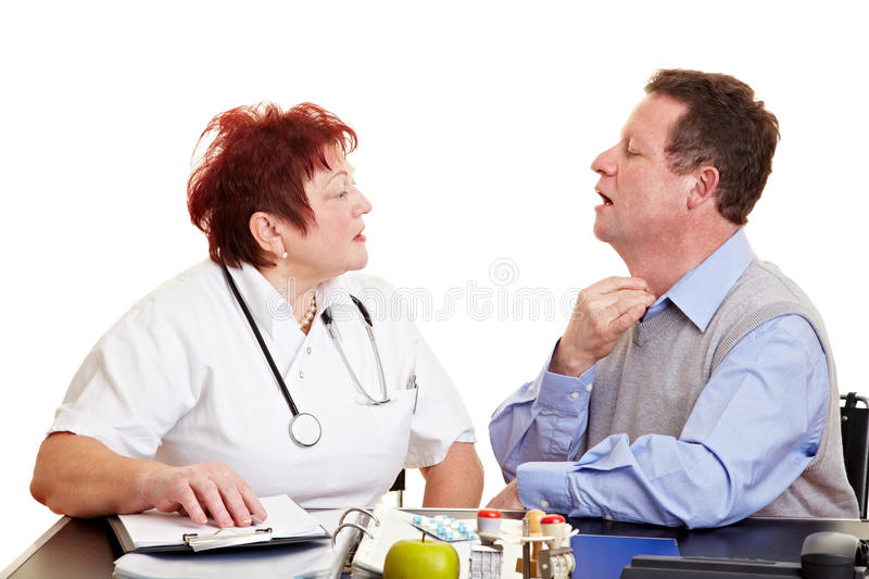 Download Man With Sore Throat Seeing Doctor Stock Image - Image: 17762851