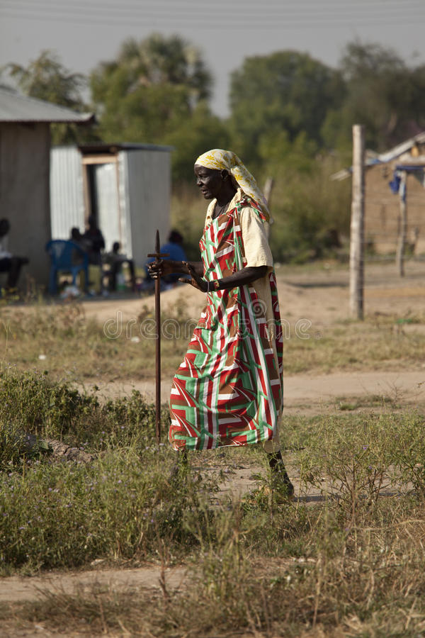 Man in South Sudan royalty free stock photography