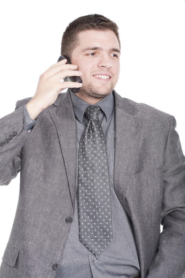 Download Man speaking on the phone stock image. Image of listen - 16694119