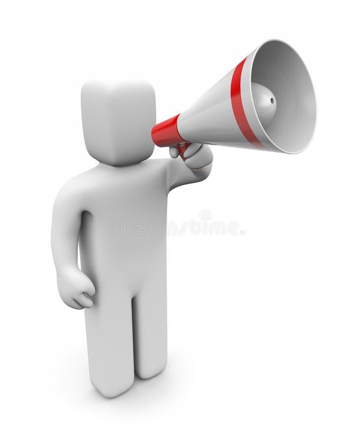 Download Man speaks in megaphone stock illustration. Image of presentation - 4742485