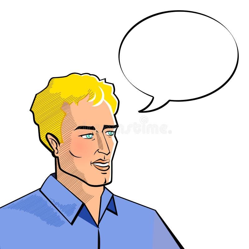 Man with Speech Bubble vector illustration