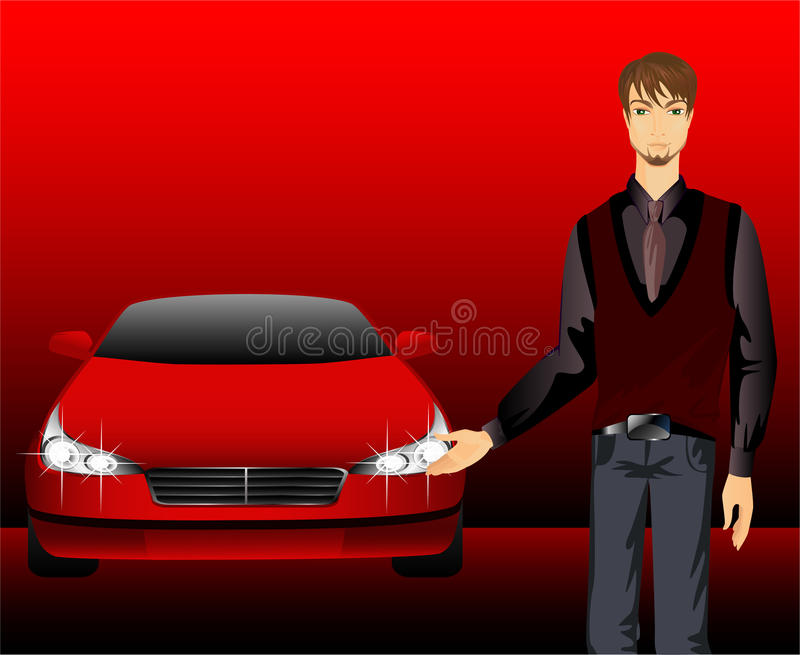 Download Man And Sporting Car Royalty Free Stock Image - Image: 11849546