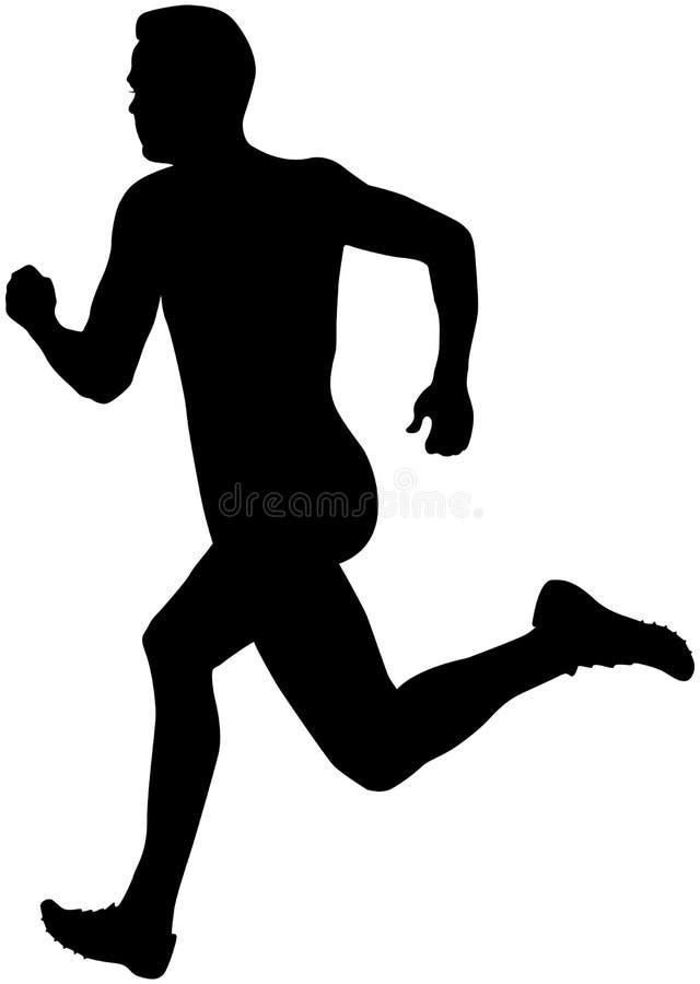 Man sprinter runner royalty free illustration