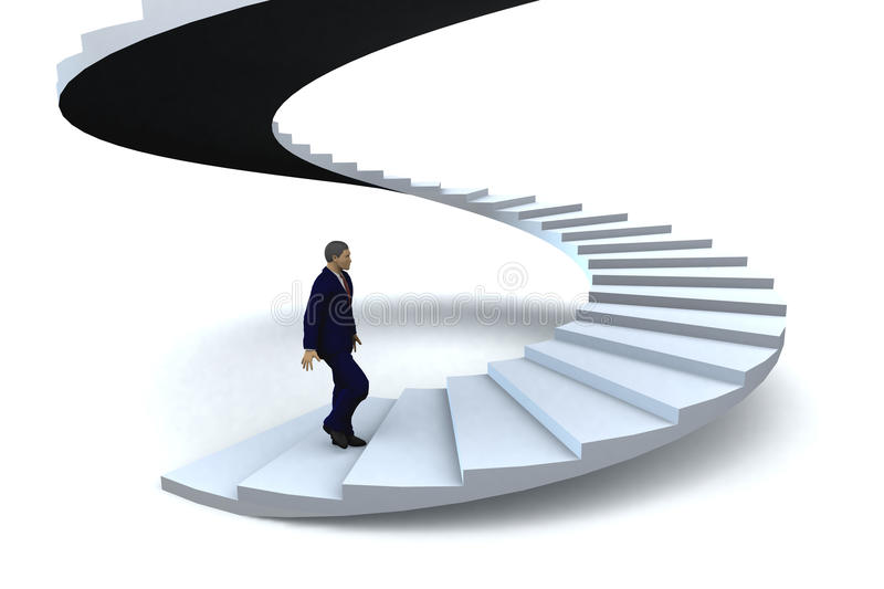 Man stairway to success royalty free stock photo