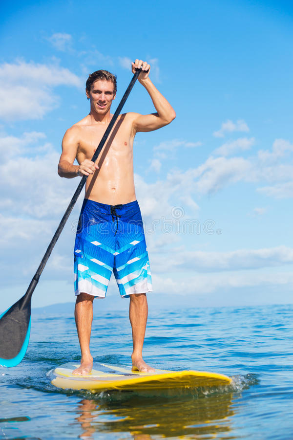 Download Man On Stand Up Paddle Board Royalty Free Stock Image - Image: 33407676