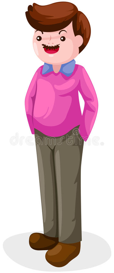 Download The man standing stock vector. Image of isolated, mustache - 22695137