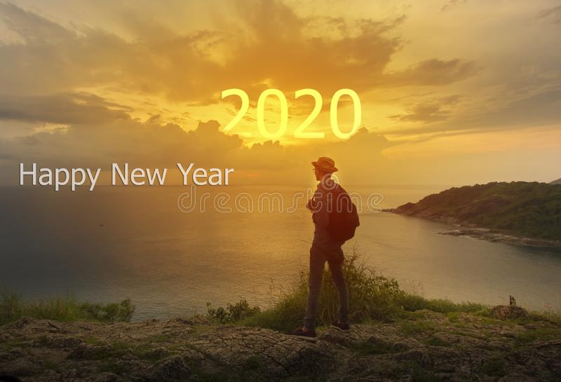Happy New Year 2020 concept background stock photos