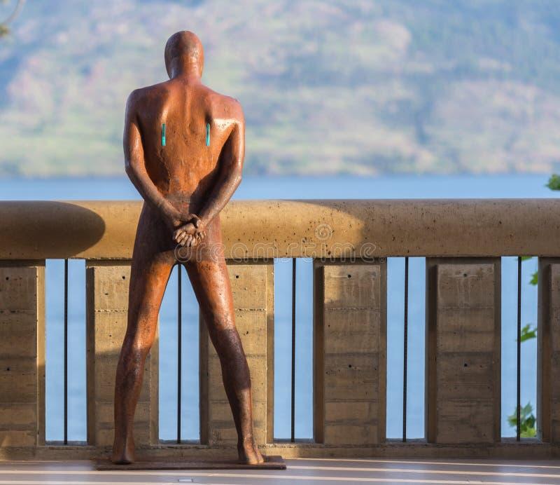 Man standing akimbo royalty free stock images
