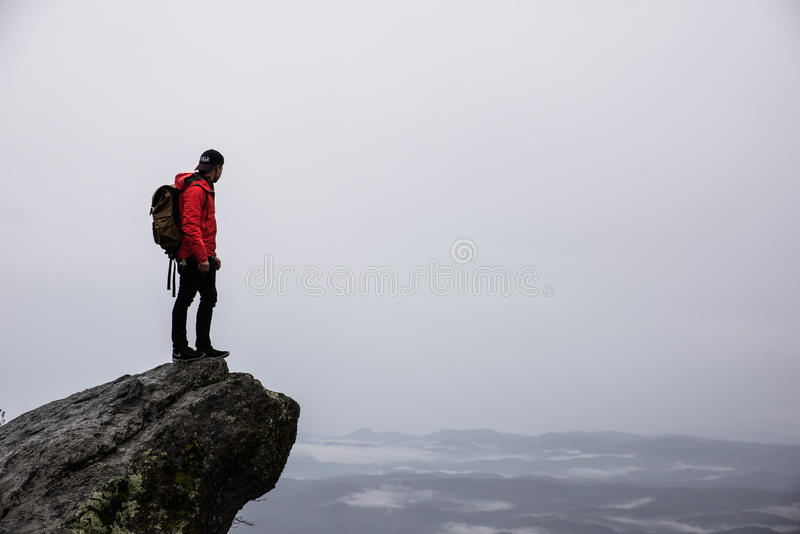 Man Standing On A Cliff Next To Sea Free Public Domain Cc0 Image