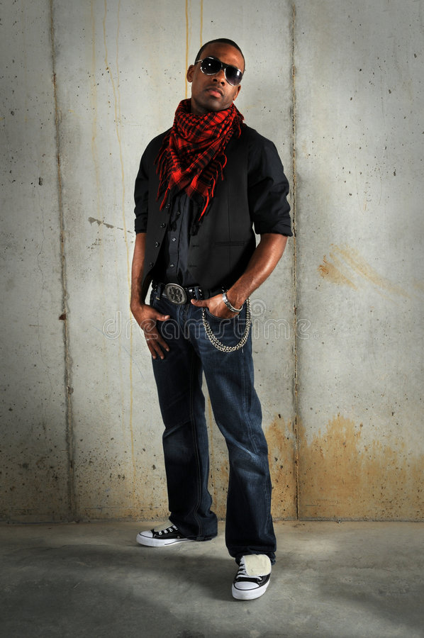 Man Standing With Hands in Pockets royalty free stock photography
