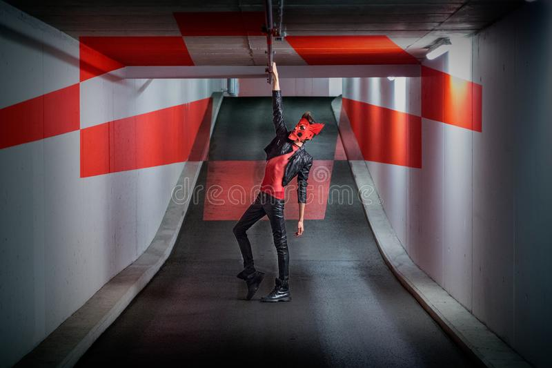 Man Standing Inside the Room stock images