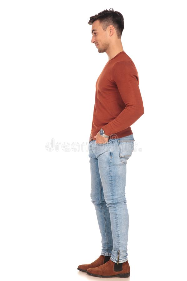 Download Man standing in line stock image. Image of shirt, happy - 103913253