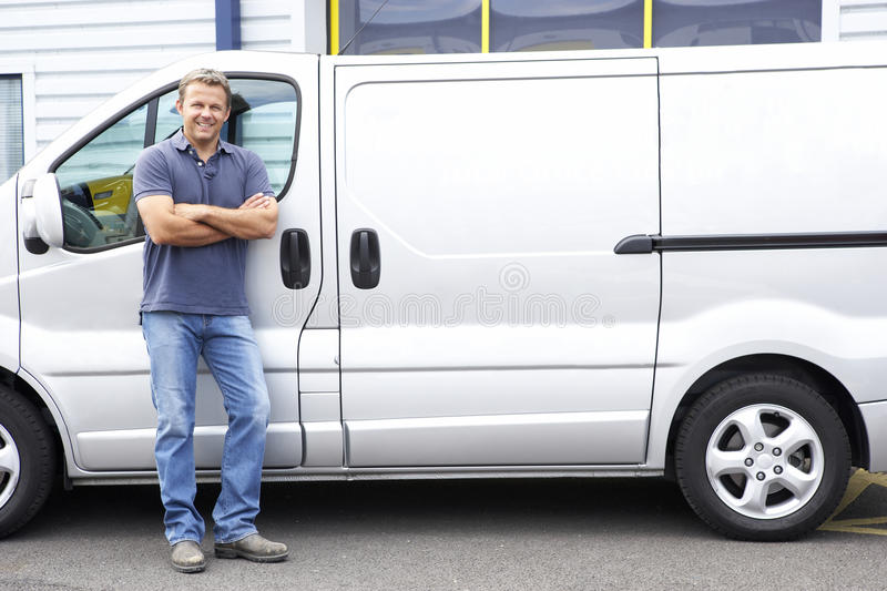 Download Man standing next to van stock photo. Image of person - 10971268