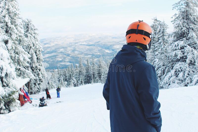 Man Standing On Snow Covered Mountain Free Public Domain Cc0 Image