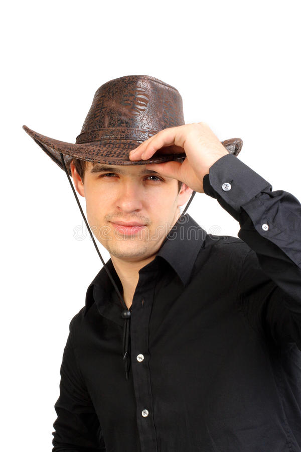 Download Man in stetson hat stock image. Image of front, male - 26446893