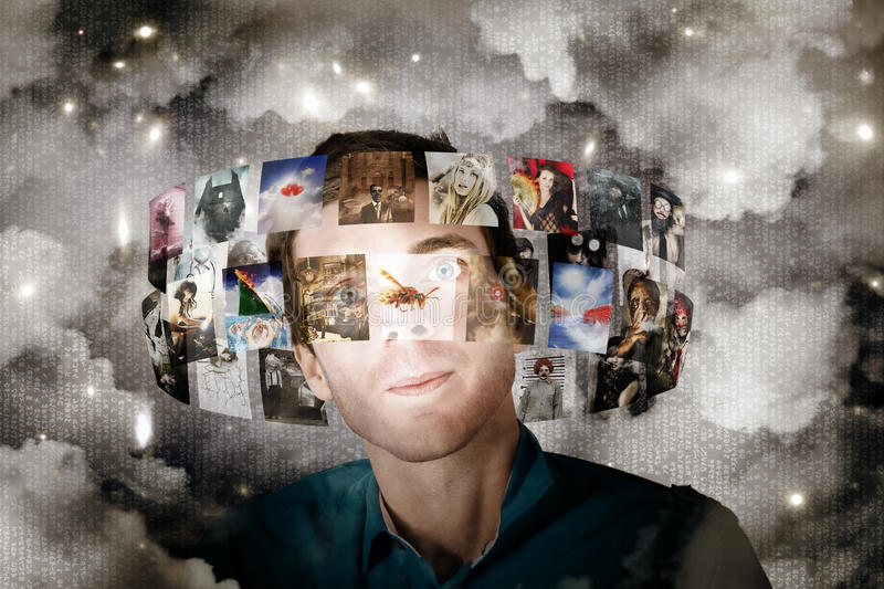 Download Man Streaming Media With Cloud Server Informatics Stock Image - Image: 27603395