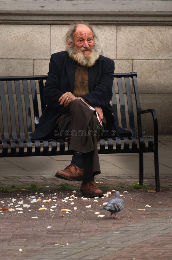 Download Man On Street Bench Royalty Free Stock Image - Image: 414996