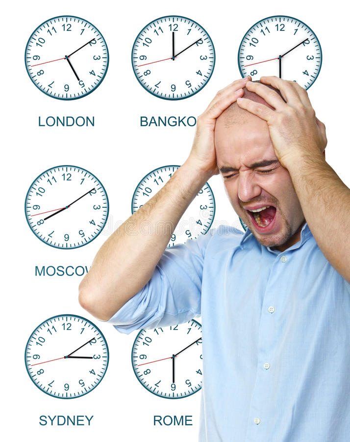 Download Man stressed any time stock image. Image of travel, clock - 17874587