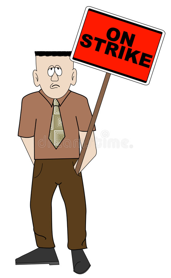 Download Man on strike stock vector. Image of freedom, brave, clash - 4885024