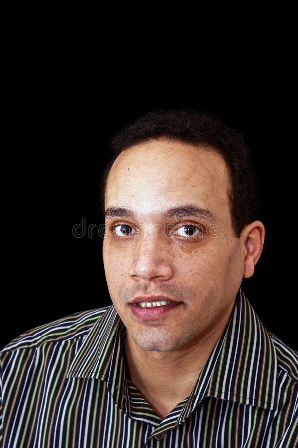 Download Young black man stock image. Image of single, stripey - 8394361
