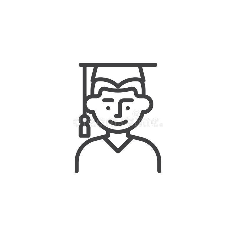 Man student line icon vector illustration