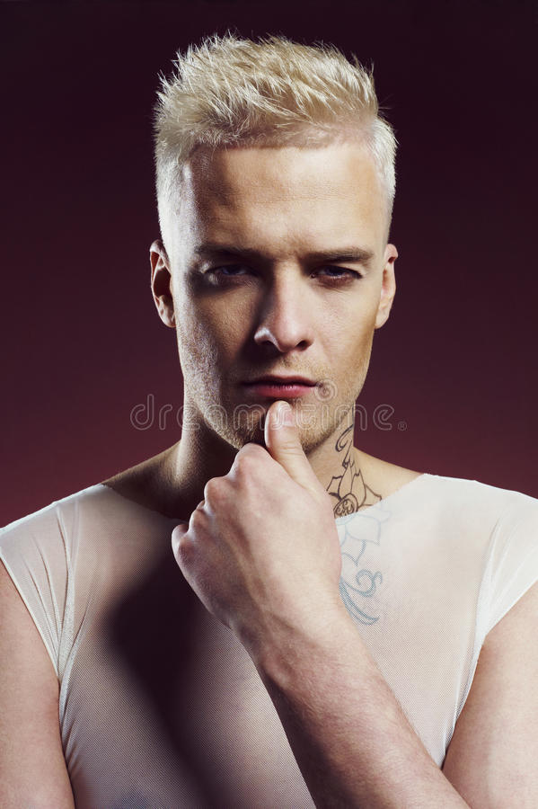 Download Man with stylish haircut stock photo. Image of caucasian - 34144904