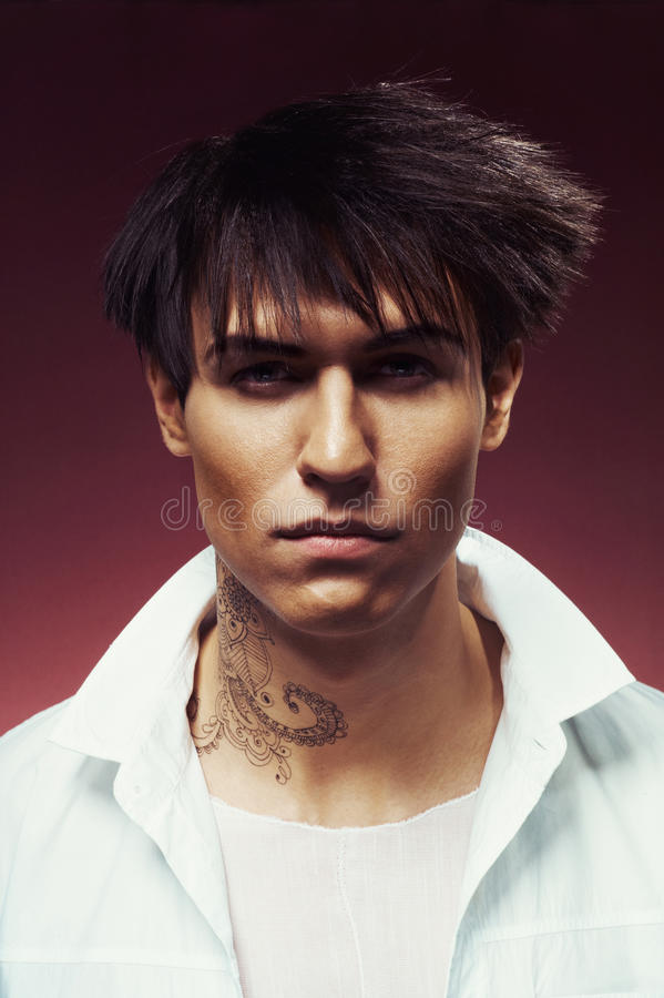 Download Man with stylish haircut stock image. Image of hairdo - 36032705