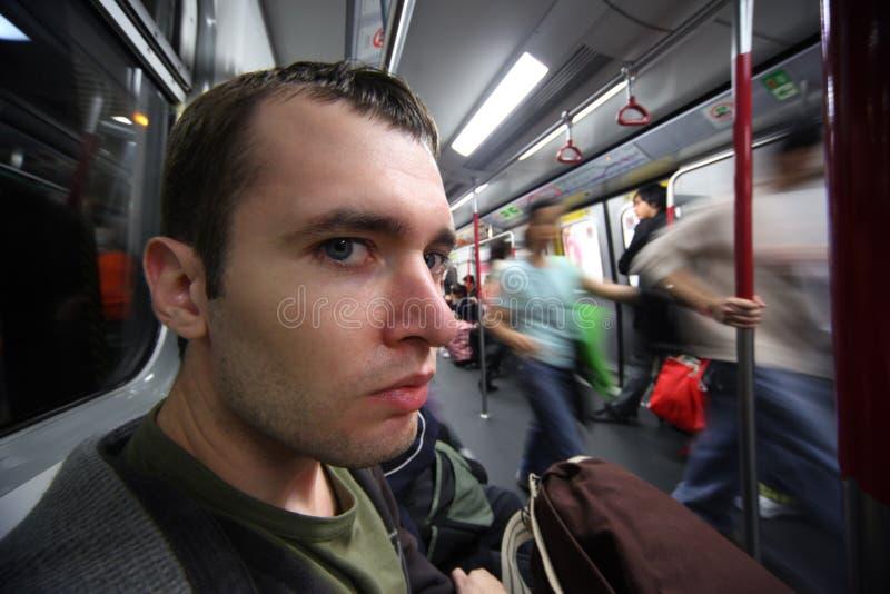 Download Man in subway car stock photo. Image of city, closeup - 13080636