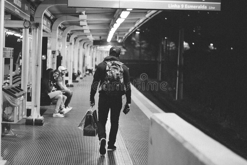 Man On Subway Platform Free Public Domain Cc0 Image