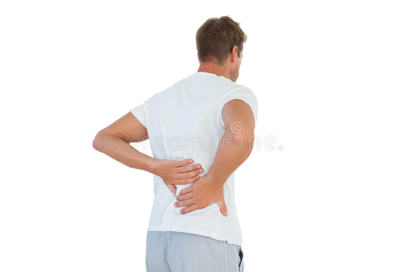 Download Man Suffering From Back Pain Stock Photo - Image: 33252744