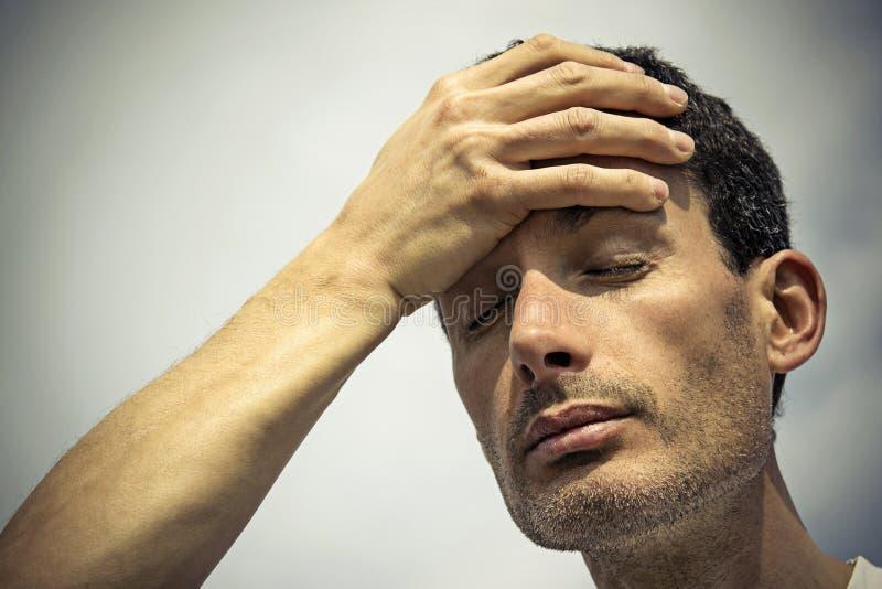 Man suffering stock photo