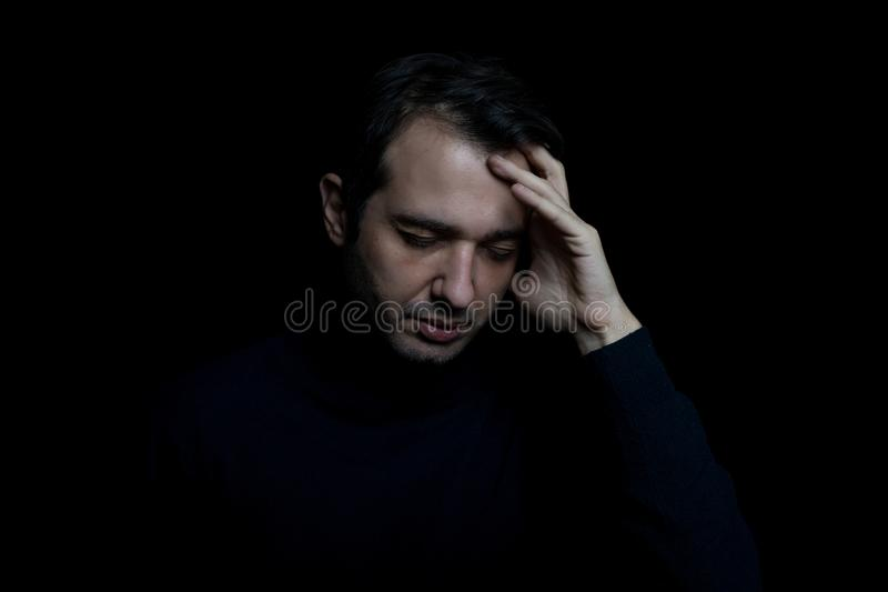 Man suffering for the mental disorder disturb royalty free stock photography
