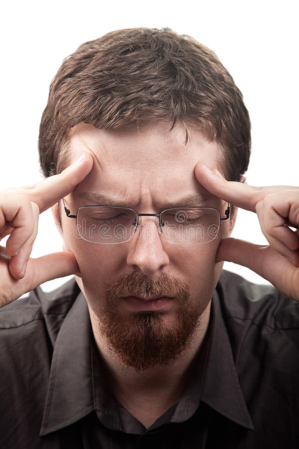 Download Man Suffering From Migraine Or Headache Stock Image - Image: 18306761