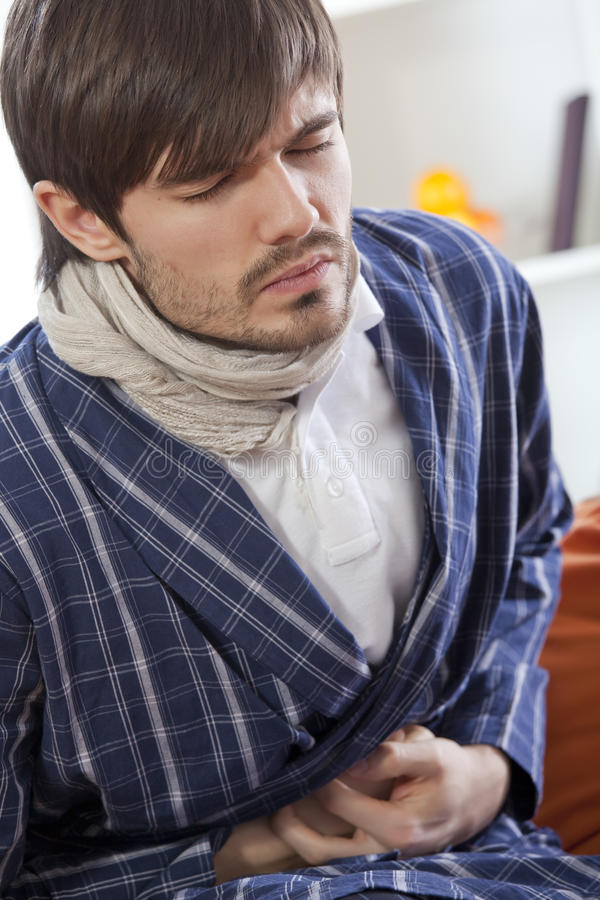 Download Man Suffering With Stomach Pain Royalty Free Stock Images - Image: 17058939
