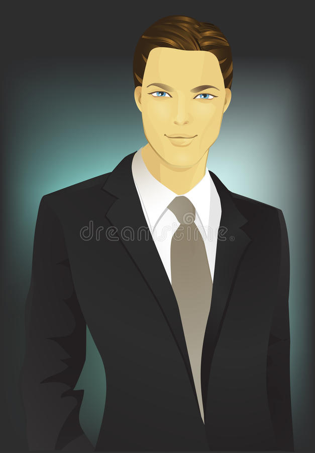 Man in a suit stock illustration