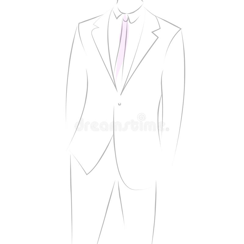Download Man in suit stock vector. Image of portrait, adult, fashion - 21654508