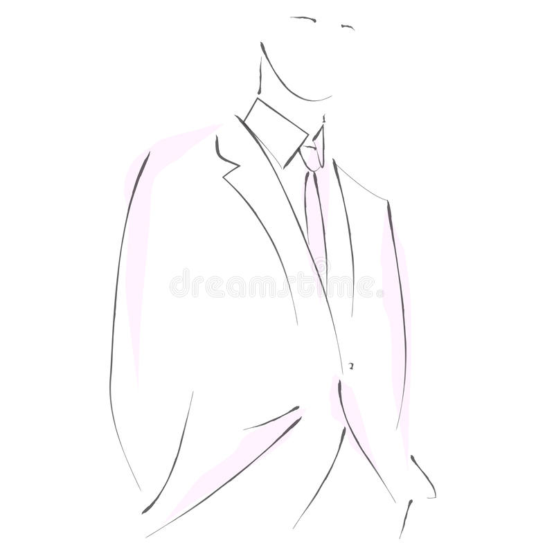 Man in suit vector illustration